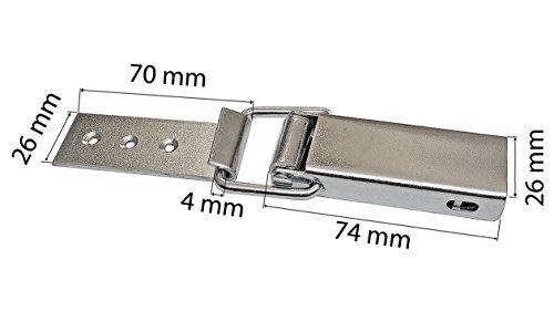 Spannverschluss Kistenverschluss 88 x 40 x 4 mit Gegenhaken Gerade