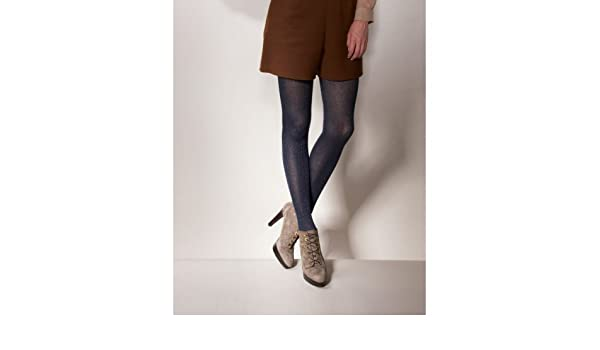 999f86bc756b7 Charnos Metallic Rib Tights Black Medium/Large: Amazon.co.uk: Clothing