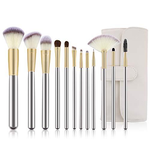 Make Up Pinsel Sets-Kosmetik Pinsel Set-Foundation Pinsel Lidschattenpinsel Rougepinsel-12 teilig...