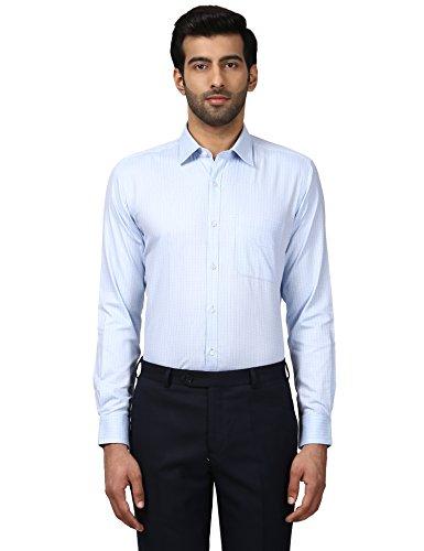 Raymond Men's Checkered Regular Fit Formal Shirt (RMSA07714-B3!_Medium Blue!_40)