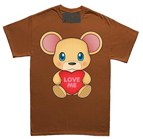 Renowned Cute Valentines Teddy Bear Love Me Unisex - Kinder T Shirt Braun