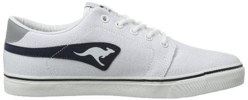 KangaROOS Jeffrey Canvas, Herren Sneakers Weiß (white/dk navy 049)