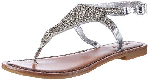 Inuovo Damen 7230 Zehentrenner Silber (Silver)