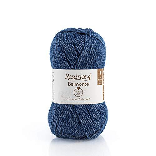 Organic Knitting Wool + Cotton Yarn - 50g (125m) Ball Double Knit - Quality Knitting Wool - DK Light Worsted - Organic GOTS Certified (29 - Blue)