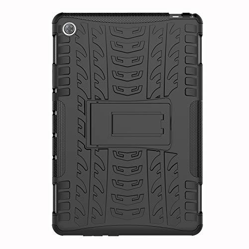 SHIEID Huawei MediaPad M5(8.4 Inch)-Hülle Tough Hybrid Armor Case,Diese Handyhülle Anti-Wrestling Travel Essential Faltbare Halterung für Huawei MediaPad M5(8.4 Inch)(Schwarz)