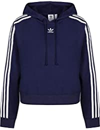 sale retailer 22d24 9f9f2 adidas Cropped Hooded, Felpa Donna, Dark Blue, 34