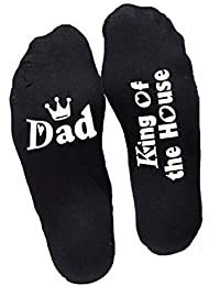 Yacun Calcetines Divertidos Papá Mamá King Queen Of The House Casual Crew Calcetines