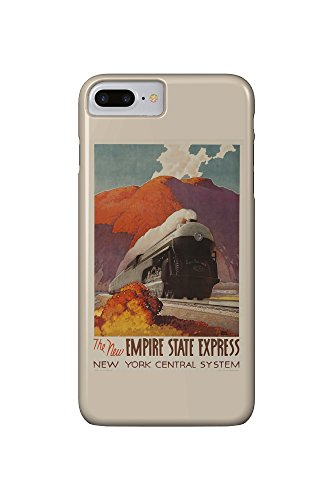 New York Central - Empire State Express Vintage Poster (artist: Ragan) USA c. 1941 (iPhone 7 Plus Cell Phone Case, Slim Barely There)