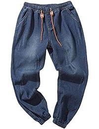 Pantaloni Larghi Uomo ASHOP I Pantaloni Casuali dei Jeans del Lavoro Hip-Hop  del Lavaggio bc94bb68dbe4