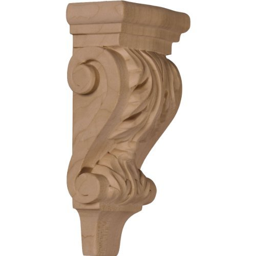 Pilaster Corbel (Ekena Millwork CORW03X02X06PAGM 3-Inch W x 1 3/4-Inch D x 6-Inch H Extra Small Acanthus Pilaster Wood Corbel, Mahogany by Ekena Millwork)