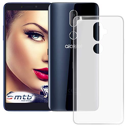 mtb more energy® Schutz-Hülle Milky für Alcatel 3V (5099D, 6.0'')   transparent/weiß   flexibel   TPU Case Schutzhülle Tasche