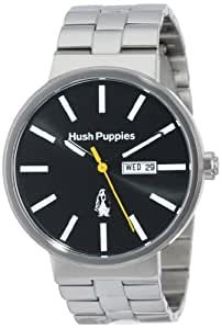 Hush Puppies Orbz Men's Automatic Watch with Black Dial Analogue Display and Silver Stainless Steel Bracelet HP.3792M.1502