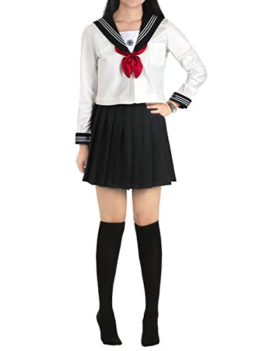 School Frauen Girl Anime Uniform (CoolChange Cosplay Schuluniform im Kansai Style, Größe: L)