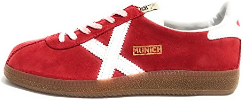Munich Scarpe Unisex Unisex Unisex scarpe da ginnastica BARRU Rosso Bianco Pelle Scamosciata U18MU11   Meraviglioso  6de899