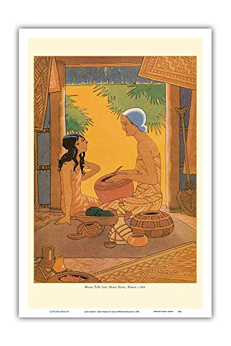 Pacifica Island Art Buchplatte Lani & Mamo von Kimo, A Story of Hawaii - Vintage Illustration von Lucille Webster Holling c.1928 - Master Art Print 12 x 18 in -