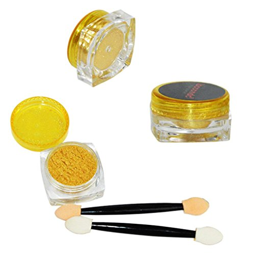 uñas espejo polvos translucidos maquillaje Sannysis oro polvo de espejo para uñas esmalte de uñas DIY