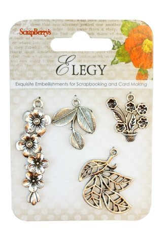 ScrapBerry's Metal Charms Set Elegy 1