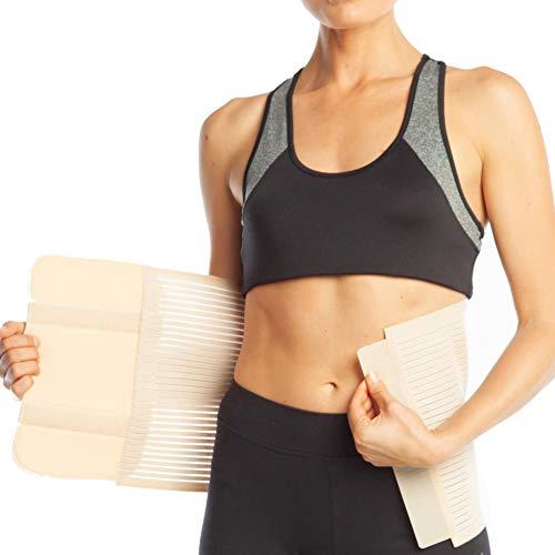 Bauchbinde Bauchband Bauch Binder Post Schwangerschaft Bauch Wrap Postpartale post-op Support (XL (100-110 cm), Beige) - Frauen Xl Bindemittel Bauch Für