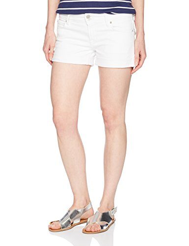 Hudson Jeans Women's Croxley Mid Thigh Flap Pocket Jean Short, White, 31 (Pocket Flap Hudson)