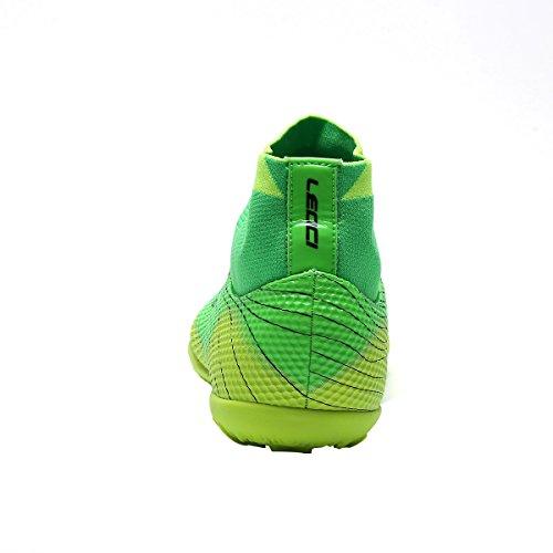 Ben Sports TF AG FG Scarpe da Football americano Calcetto Scarpe da Calcio Allenamento Uomo Bambini e Ragazzi,33-45 TF-verde