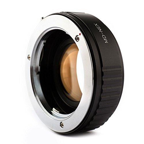 Focal Reducer Speed Booster Netzteil für Minolta MD Objektiv an Sony NEX E APS-C Kamera -