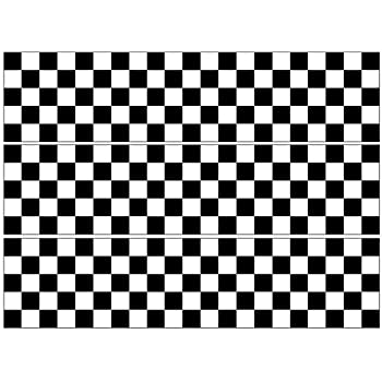 Chequered Flag Edible Cake Bands Ribbon Cake side strips Icing or Wafer