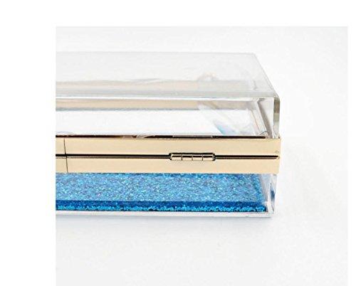 GSHGA Borse Da Sera Borse Trasparenti Acriliche,Blue Blue
