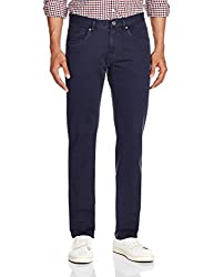Pepe Jeans Mens Casual Trousers (8903872571710_LEN_30W X 34L_Dark Navy)