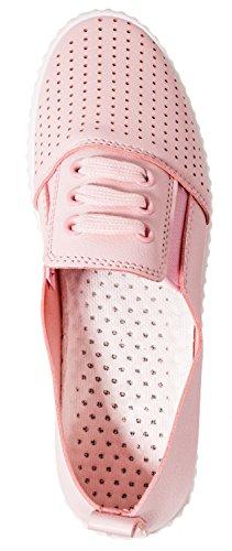 Elara Ladies Sneaker | Slip On Moderni | Scarpe Casual A Pantofola Bassa | Rosa Chunkyrayan