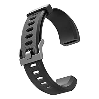 Adjustable Replacement Straps Band for 115 HR Plus Fitness Tracker (Black.1)