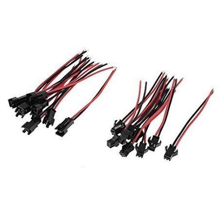 VIPMOON 20Pairs JST SM 2Pin Plug Male to Female EL Câble Adaptateur Connecteur de Câble pour 3528 5050 LED Bande Lumineuse