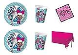 Party Store web by casa dolce casa LOL Surprise coordonné décorations fête-Kit N ° 22CDC- (16Assiettes, 16gobelets, 20Serviettes, 1Nappe uNI)