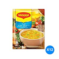 Maggi 11 Vegetables Soup Sachet, 53g  Pack of 12