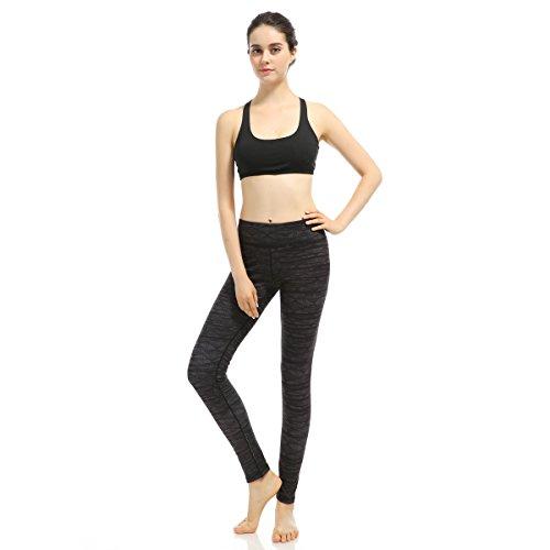 AiJump Pantaloni Palestra Leggings Allenamento Leggings per Donna Sports Leggings per Yoga Fitness Sport Gym Jogging Elastico Allenarsi Nero