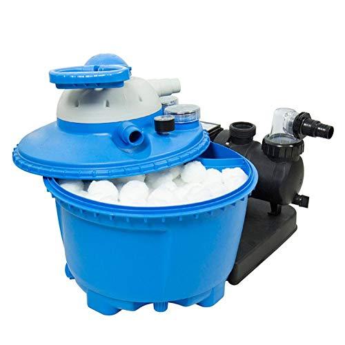 G-wukeer 700 g (1,5 lbs) Poolfilterbälle Umweltfreundliche Faserfiltermedien für Poolsandfilter (entspricht 50 lbs Poolfiltersand) Poolreinigungsausrüstung Spezieller Feinfilter-Faserballfilter (Sand Lbs Filter Pool 50)