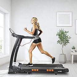 JLL S400 Folding Treadmill, 2019 New Generation Digital Control 4.5HP Motor, Large Running Area, 20 Level Incline, 15 Programmes, Speakers, Bluetooth, USB & AUX, 16 Point Cushion Deck, LCD Display