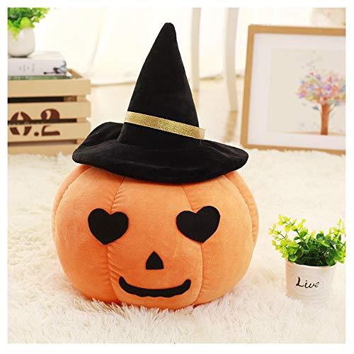 LGZW Kissen, Plüschtier Halloween Simulation Kürbis Kissen Puppe, Sofa Kissen Büro Taille Kissen Bett Lesekissen Stuhl Kissen (Farbe : Moon)