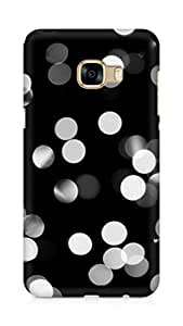 AMEZ designer printed 3d premium high quality back case cover for Samsung Galaxy C5 (black and white lights)