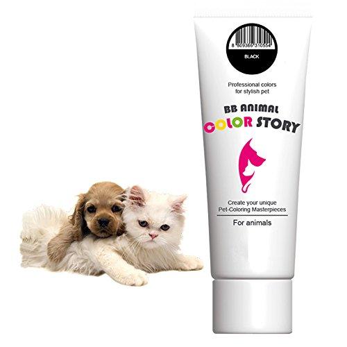 Black 50ml Dog Hair Bleach Dog Hair Dye Professional Colors for Stylish Pet