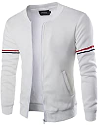 OVERDOSE Bomber Homme Noir Hiver, Veste Slim Manteau Fashion Sport Sweat  Casual Jacket 2fa0c4da59cf