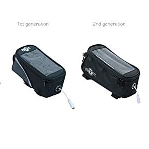 BTR Bicycle Top Tube Frame Cycling Pannier Bike Bag & Mobile Phone Holder / Mount - Water Resistant