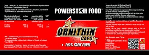 100% L-ORNITHIN – HOCHDOSIERT – Nacht Aminosäure + Vitamin B6 für Muskelaufbau, bessere Regeneration & Entgiftung in geprüfter Arzneibuch-/Pharmaqualität – 200 Kapseln – MADE IN GERMANY