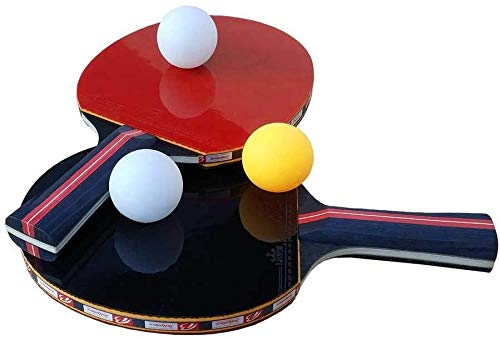 Ping Pong Paddel Set (2 X Paddel, 3 X Bälle) Professionelle Materialien, Für Indoor & Outdoor Play