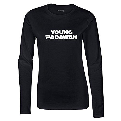 Brand88, Young Padawan, Dames t-shirt à manches longues Noir