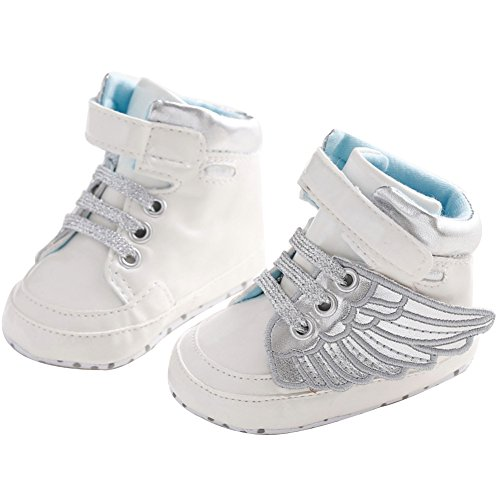 LianLe Baby Laufschuhe Fuß Lernen Schuhe Sneaker mit Flügel und Schnürsenkel für 0-1 Jahre Alt Weich Sohle Warm in Winter Herbst