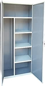 Armadio portascope linea mare alluminio bianco porta scope for Armadietti metallo