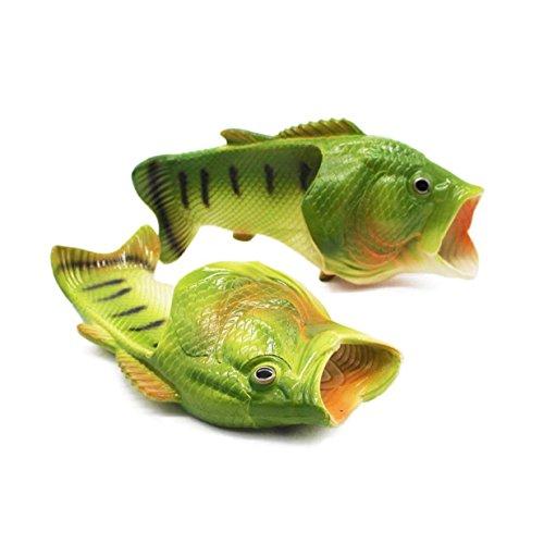 Lalang Fisch Hausschuhe Sommer Strand Pantoffeln Kreative Gift Eltern-Kind Liebhaber Gift Strand Pantoffeln für Damen & Herren Geburtstagsgeschenk (38/39 (Schuhe Fisch Mit)
