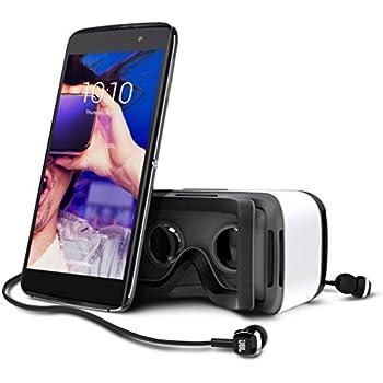 Alcatel Idol 4S Smartphone, Display 5.5' Pollici, 32 GB Memoria interna, 3GB RAM, Android 6.0 Marshmallow, Fotocamera 16MP, Dual SIM, VR incluso, Grigio [Italia]