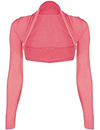 Ladies Long Sleeve Jersey Shrugs Multiple Colours available in the listing