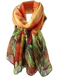 Cinnamou Femmes Sexy Imprimer Coral Etoles Long Soft Paris Foulard Foulard  Wrap Châle Stole Foulards 73f50693257